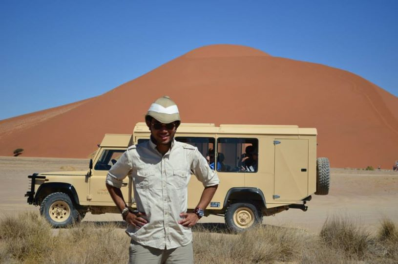 Tall red dunes at Sossusvlei, Namibia.