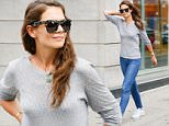 July 14, 2015: Katie Holmes is seen in casual jeans and a grey top while taking a stroll in New York City. Mandatory Credit: papjuice/INFphoto.com Ref: infusny-286