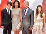 """LONDON, ENGLAND - JULY 08:  Catherine Zeta Jones and actor Michael Douglas with thier children Dylan and Carys as they attend the European Premiere of Marvel's """"Ant-Man"""" at the Odeon Leicester Square on July 8, 2015 in London, England.  (Photo by Anthony Harvey/Getty Images)"""