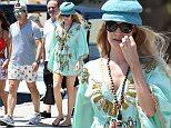ISCHIA, ITALY - JULY 14:  Antonio Banderas and Nicole Kempel are seen on July 14, 2015 in Ischia, .  (Photo by Pretaflash/GC Images)