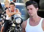 140082, EXCLUSIVE: Patrick Schwarzenegger seen during a photo shoot in LA. Los Angeles, California - Monday July 13, 2015. Photograph: Miguel Aguilar, ? PacificCoastNews. Los Angeles Office: +1 310.822.0419 sales@pacificcoastnews.com FEE MUST BE AGREED PRIOR TO USAGE