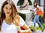 Please contact X17 before any use of these exclusive photos - x17@x17agency.com   Sofia Vergara looks exhausted as she recharges with caffeine before attending an important business meeting in Santa Monica. July 15, 2015 X17online.com EXCLUSIVE