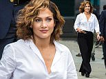 NEW YORK, NY - JULY 14:  Jennifer Lopez is seen on set of 'Shades of Blue' on July 14, 2015 in New York City.  (Photo by Alessio Botticelli/GC Images)