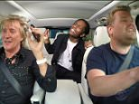"""15 July 2015 - Los Angeles - USA  **** STRICTLY NOT AVAILABLE FOR USA ***  Rod Stewart joins The Late Late Show's James Corden for some carpool karaoke. Stewart and Corden began their drive by singing Stewartís song First Cut Is The Deepest. Corden then asked Stewart about his craziest 'rock and roll moment'  and Stewart said:"""" It was the drinking and shagging and the drinking and the shagging!"""" Stewart also admitted he would often 'smash up hotel rooms' while with the band The Faces and revealed the band were once banned from all Holiday Inn hotels. Next, A$AP Rocky popped up in the backseat to sing In A Broken Dream which the rapper samples on his new track Everyday. Stewart and Corden then sang Do Ya Think Iím Sexy? and Maggie May, which is about an older woman with whom Stewart had sex. Corden asked: ìIs that the last time you slept with an older woman?î before Stewart jokingly told him to: 'Shut up!"""" The talk show host also called Stewartís hair a 'work of art' and touched it."""