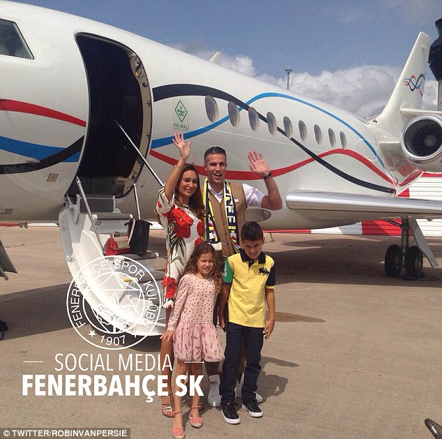 The Dutchman and his close family were due to arrive in Turkey at around7:30pm (5:30pm BST) on Sunday