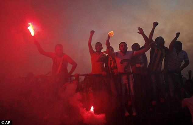 Fanfare over the 31-year-old included flares as supporters of the Turkish giants celebrated the imminent move