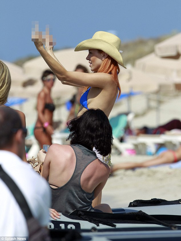 Charming! Not known for holding back, Imogen showed everyone exactly what she thought later as she hit the beach
