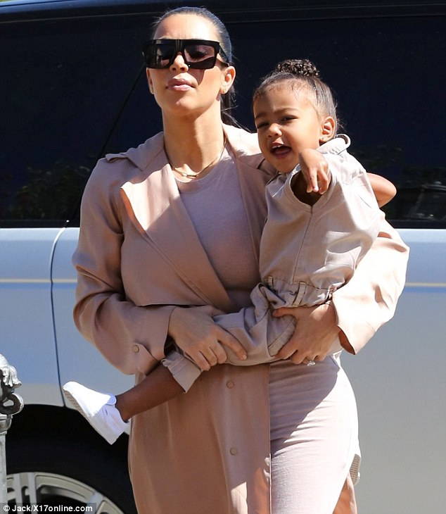 Look Mommy!: Nori, who celebrated her second birthday last month, pointed things out during their stroll