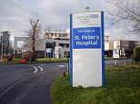 "St Peters Hospital, part of the Ashford and St Peters hospital NHS foundation trust. Chertsey, Surrey.It has declared it is under ""severe pressure"" in its A+E dept."