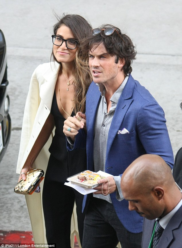 On the go: Reed, 27, and Somerhalder, 36, were once again inseparable at Comic-Con during the weekend