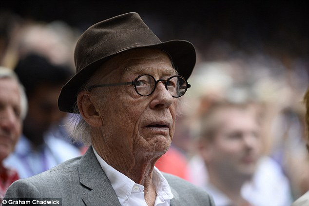 Hats off to him: Critically-acclaimed actor John Hurt looked hooked on the game and couldn't look away