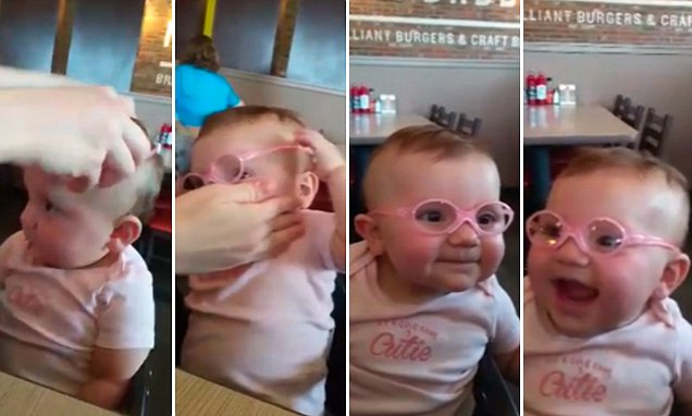 Cincinnati mum captures moment baby is given her first pair of glasses
