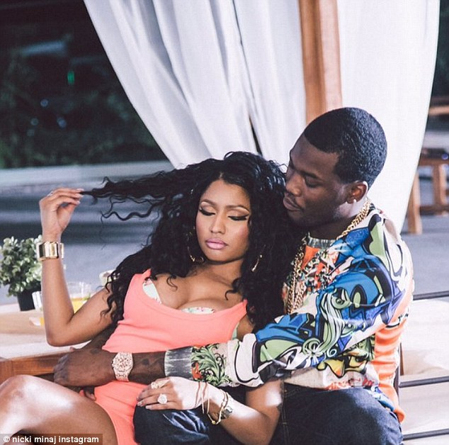 Sneak peek: Nicki Minaj cozies up to boyfriend Meek Mill for his new video All Eyes On You