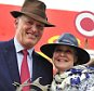 Rachel and John Gosden celebrate after Jack Hobbs won the 150th Dubai Duty Free Irish Derby during day two of the Irish Derby Festival at the Curragh Racecourse, Co. Kildare, Ireland. PRESS ASSOCIATION Photo. Picture date: Saturday June 27, 2015. See PA story RACING Curragh. Photo credit should read: Pat Healy/PA Wire