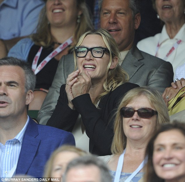 Tough break: Kate was wonderfully expressive as she enjoyed her VIP view from Centre Court