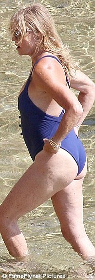 The past week alone has seen bikini and one-piece sales soar among the 50 plus age group, following new pictures of Goldie Hawn at the beach, looking fantastic in a purple button-detail swimsuit