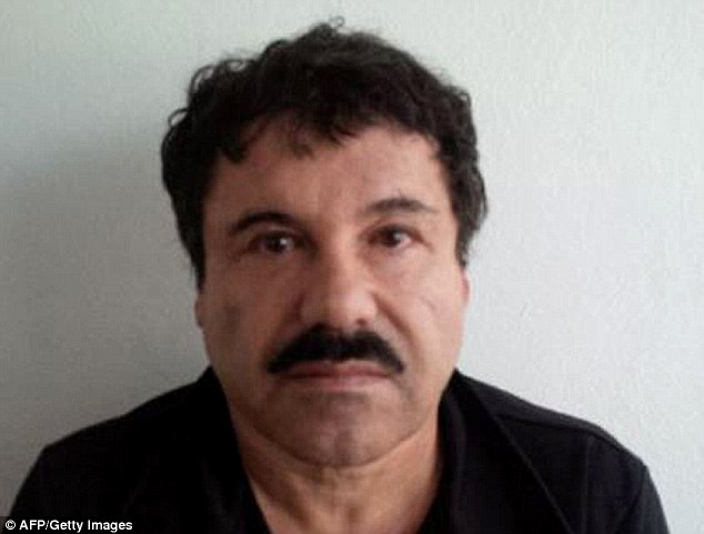 On the run: Joaquin Guzman Loera, pictured in a mugshot last year, fled from his prison Saturday night
