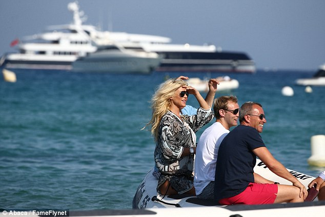 Bon voyage: The group set sail from the celeb favourite destination on a boat after their meal
