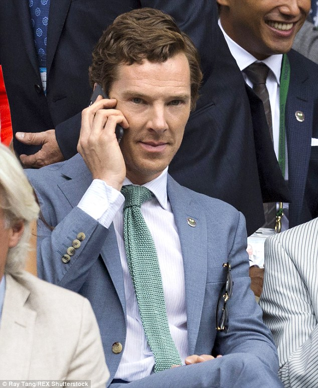 Sharp-suited: The Imitation Game star had obviously been given suit tips for the big day