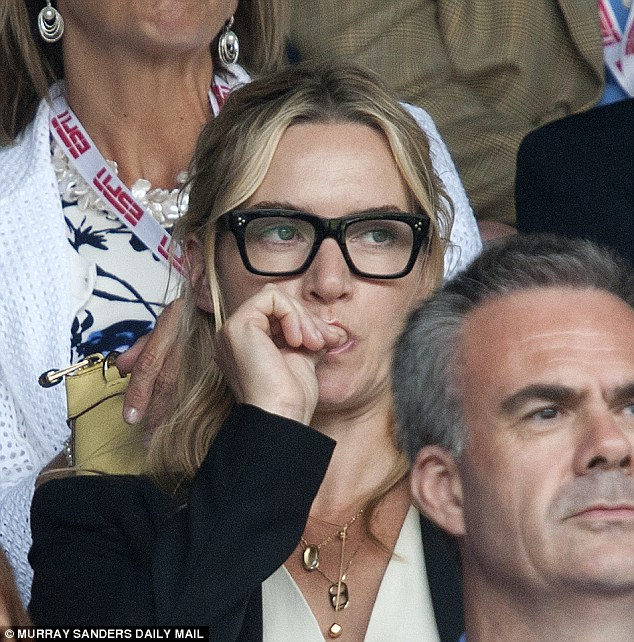 Quite literally nail-biting! The tension of the dramatic game was clearly getting to Kate