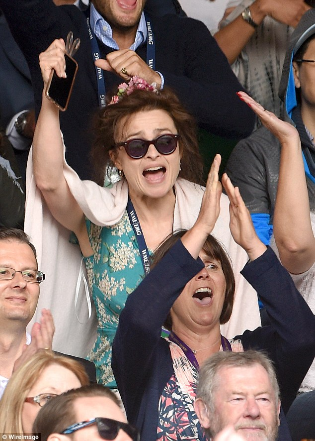 Emotional: Helena ran through the spectrum of emotions as events unfolded on the court at the All England Tennis Club