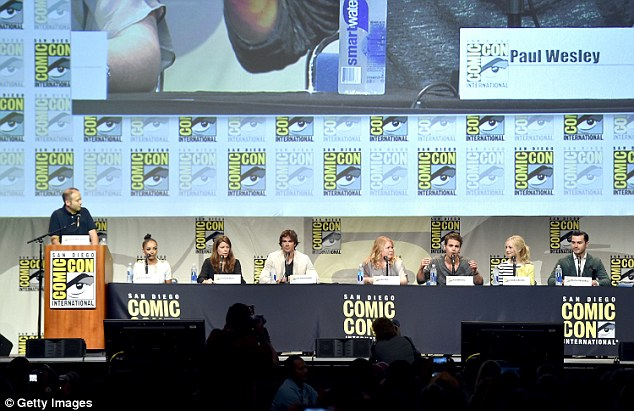 Panel discussion: The cast of The CW's hit series The Vampire Diaries appeared for a panel on Sunday at Comic-Con