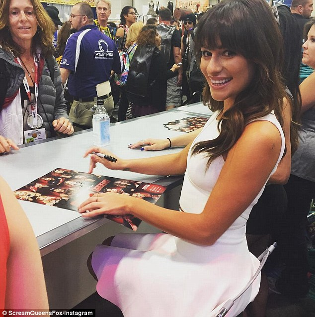Fan favourite: Lea took time to sign autographs for fans at Comic-Con