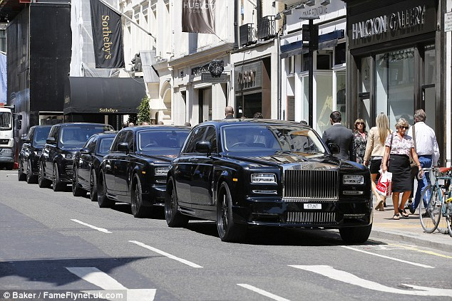The Stunt motorcade is something of a London landmark. Last Thursday, the couple and their entourage arrived at Nicky Hilton's pre-wedding bash in no less than seven vehicles