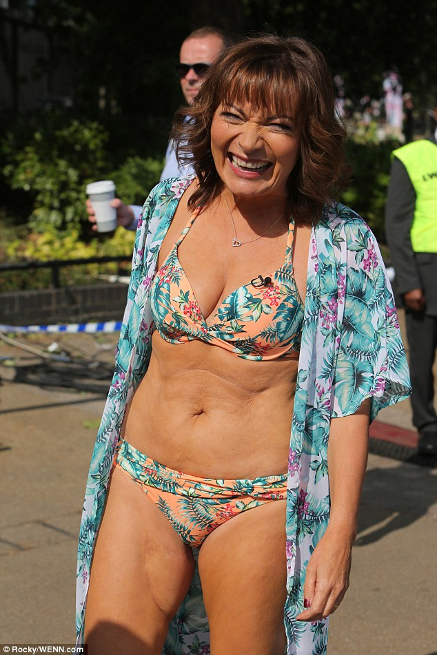 Lorraine Kelly is also credited with boosting confidence levels among real women, following her appearance on live TV this week in nothing but her floral print bikini and sandals
