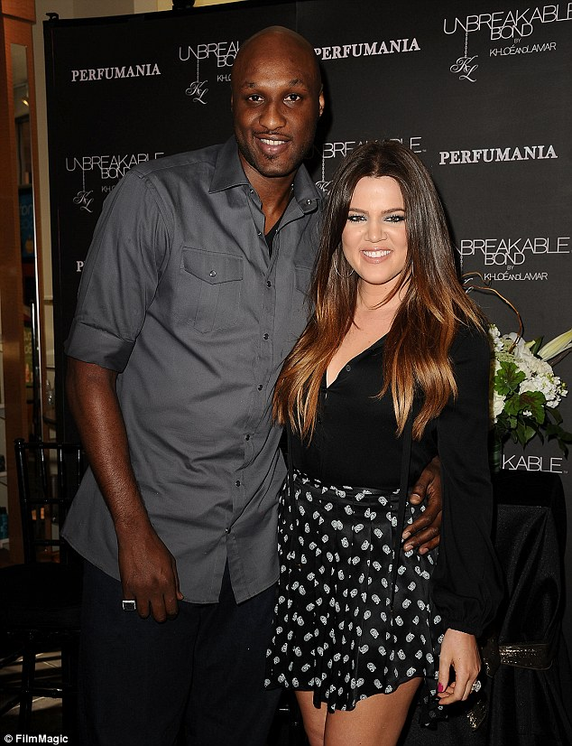Not ready to let go?: Khloe has filed for divorce from Lamar but not moved forward with the proceedings. The former couple are pictured in June 2012