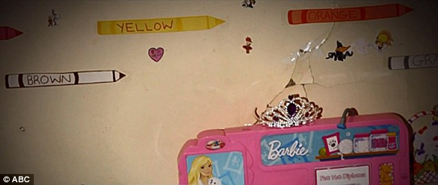 Jocelyn had a pink Barbie desk and a crown in the cramped and dark room she shared with her mother