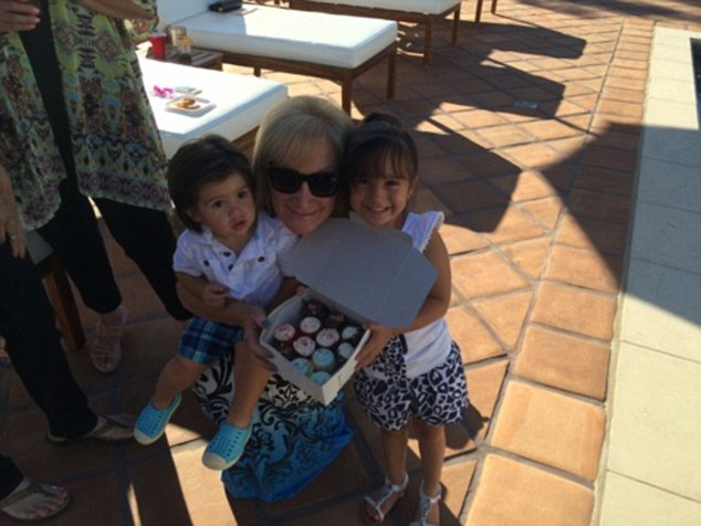 Not forgetting: His children, four-year-old Gia Francesca and one-year-old Dominic, were of course invited