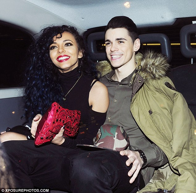 On a high: Jade and boyfriend Sam Craske look settled together on Thursday at the Little Mix end of tour party