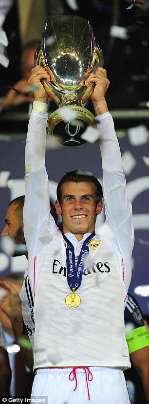 Bale was also part of the Real team which beat Sevilla in the UEFA Super Cup in August 2014