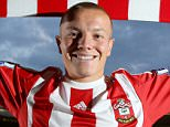 Jordy Clasie (L) who has signed for Southampton FC from Dutch club Feyenoord.
