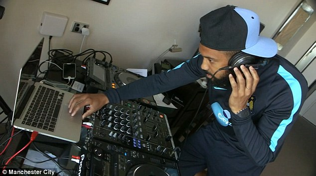 Manchester City defender Gael Clichy has been practising his DJing on pre-season tour in Australia