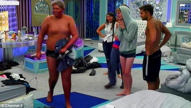 Funny: He returns to the house and tries to escape to the bathroom unnoticed, but Danny sees him and all the housemates are hysterical at the results