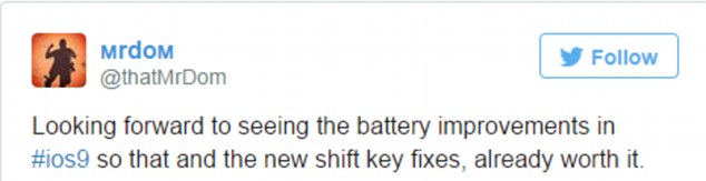 This Twitter user said battery life and the keyboard changes made downloading the software worth it