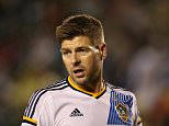 LOS ANGELES, CA - JULY 11:  Steven Gerrard of LA Galaxy on his debut during the International Champions Cup match between Club America and LA Galaxy at StubHub Center on July 11, 2015 in Los Angeles, California.  (Photo by Matthew Ashton - AMA/Getty Images)