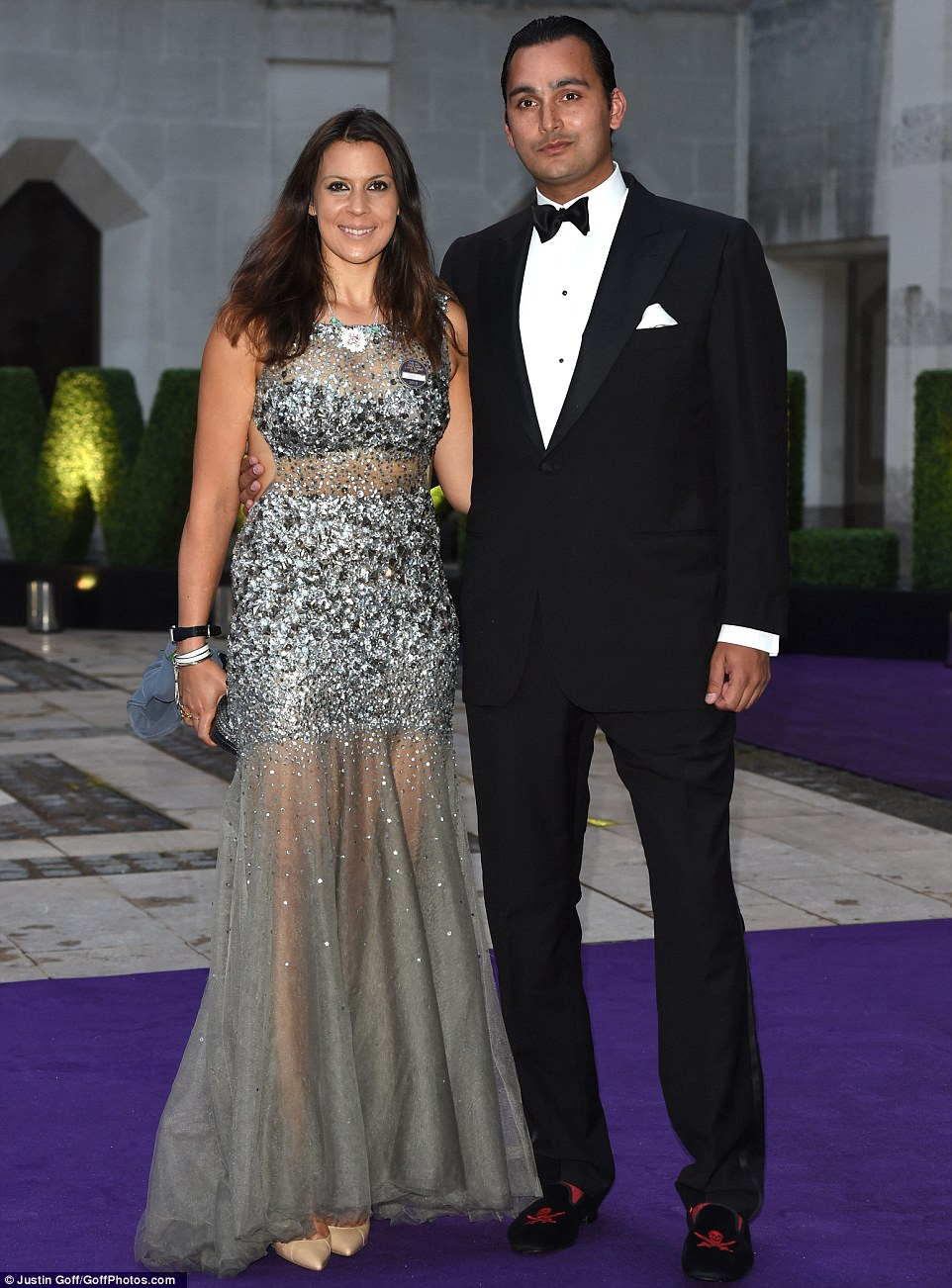 Former Wimbledon champion Marion Bartoli also attended the star-studded event, dressed in a sequin-embossed floor-length silver gown
