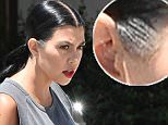 kourtney kardashian gray hair temples