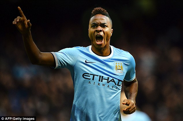 A mock-up of how Sterling may look in a Manchester City kit now his move has been confirmed