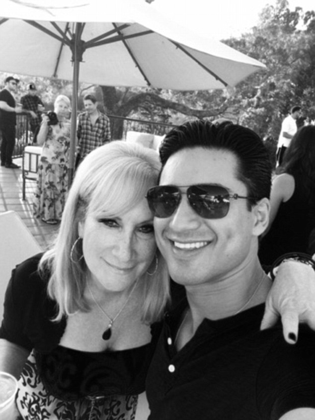 Mario party: Mario Lopez opened up his home on Saturday to his Extra friends and colleagues, including his bossLisa Gregorisch-Dempsey