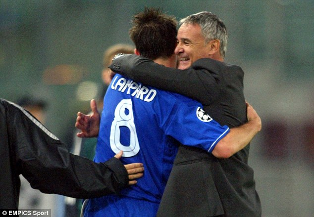 Ranieri (right) was manager of Chelsea for four years from 2000 until 2004 and is back in the Premier League