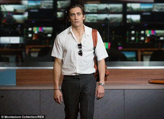 Slim to the ring: Jake's training was especially gruelling because he had previously shed 30 pounds in order to play the role of skinny Lou Bloom in cameraman film Nightcrawler
