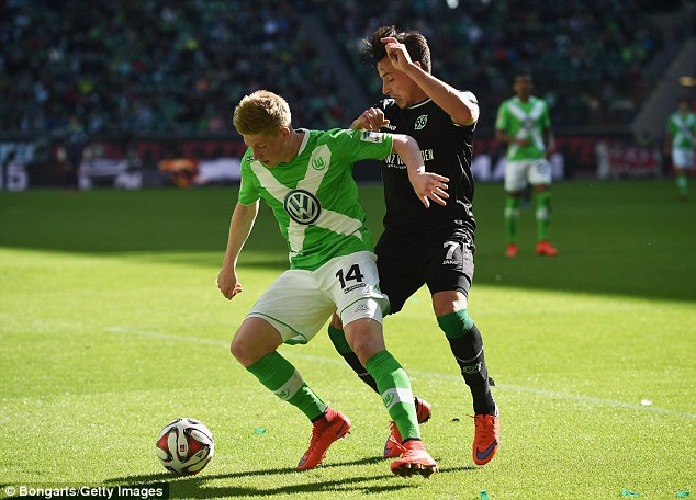 De Bruyne was in superb form for Wolfsburg last season and has attracted interest from some top clubs