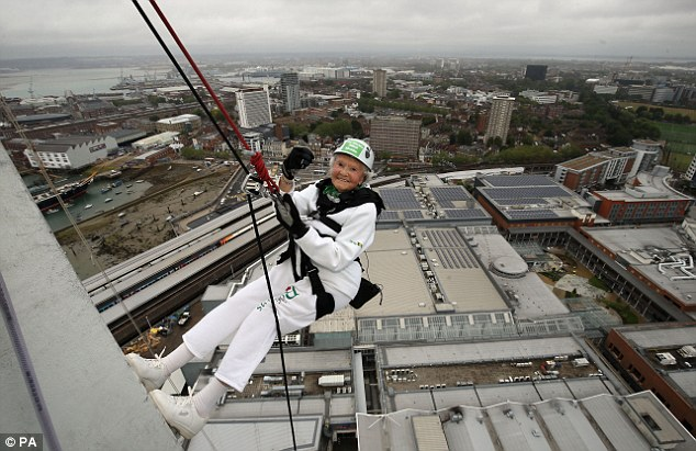 Doris Long completed her 16th successful abseil on Britain's tallest building outside of London