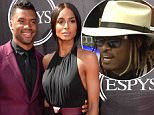 OIC - FEATUREFLASH.COM - Russell Wilson and Ciara at the 2015 ESPYS Awards at the Microsoft Theatre Los Angeles 15th July 2015\nPhoto Paul Smith/FeatureFlash/OIC\nCall OIC 0203 174 1069 for fees and usages or contact@oicphotos.com
