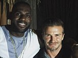James, the former England captain andGreen Bay Packers quarterback Rodgers pose for another snap