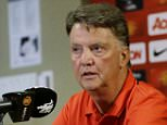 Manchester United manager Louis van Gaal talks to reporters during a news conference Wednesday, July 15, 2015, in Bellevue, Wash. Manchester United is in the Seattle area for an international friendly soccer match against Mexico's Club America on Friday. (AP Photo/Ted S. Warren)